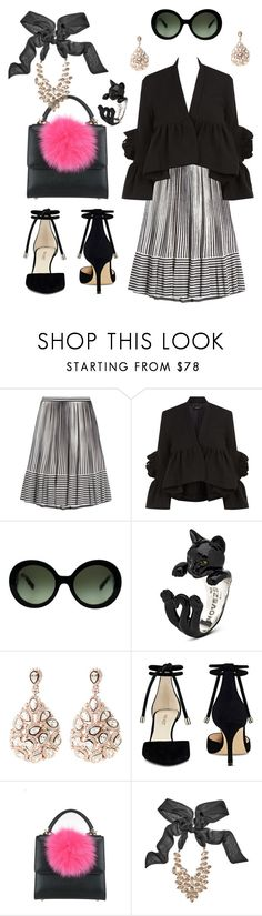 """""""Pink, Black and Sparkley"""" by glamourgrammy on Polyvore featuring Marco de Vincenzo, Rachel Comey, Prada, Latelita, Nine West, Les Petits Joueurs and GUESS by Marciano"""