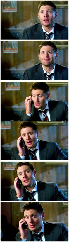 Dean with a phone and looking awful pretty :) 10x12 About A Boy