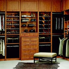 An awesome closet system - oh yes, and a closet that is big enough...