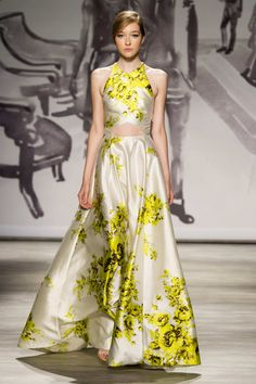 Pin for Later: Behold, the Most Gorgeous Gowns of Fashion Week Lela Rose Spring 2015 Lela Rose, Ny Fashion Week, Fashion Show, Fashion Weeks, Designer Evening Gowns, Evening Dresses, Beautiful Gowns, Beautiful Outfits, Moda Floral