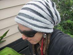 Stripy dreadlock hat