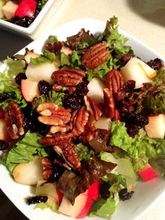 Hungry Vegan: Forks Over Knives Cookbook Review and Giveaway + Bonus Recipe for Autumn Mixed Greens Salad with Cranberries & Pecans
