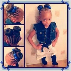 Simple and trendy, these cool braid styles for girls are a must try. Starting with The Pin wheel shaped, braided pigtails, they are classic and adorable! Childrens Hairstyles, Lil Girl Hairstyles, Girls Natural Hairstyles, Natural Hairstyles For Kids, Natural Hair Styles, Braided Hairstyles, Princess Hairstyles, Little Girl Braids, Braids For Kids