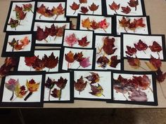 Real leaves and watercolor leaves...mod podge on all