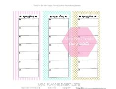 Free Mini Happy Planner Menu Checklists | Vintage Glam Studio