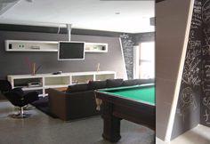 salas grandes com mesa de sinuca - Pesquisa Google
