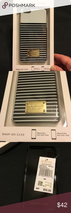 Authentic Michael Kors snap on case for iPhone Authentic Nwt Michael Kors snap on case for iPhone 6/6S plus retails for $55.00 tags are attached.The price is FIRM Michael Kors Accessories Phone Cases