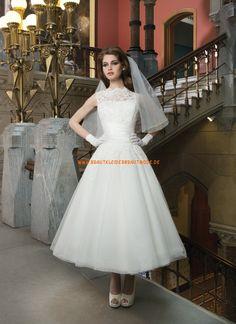 Knöchellange Maßgeschneiderte Hochzeitskleider aus Organza