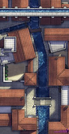 Six-Pillar Canal - Roman-inspired town thing (17x33): battlemaps Building Map, Home Building Design, Dungeons And Dragons Homebrew, D&d Dungeons And Dragons, Dnd World Map, Scale Map, Rpg Map, Dungeon Maps, Fantasy Map