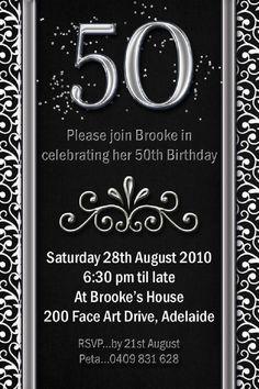 24 Best 50th Birthday Invitation Templates Images Birthday Ideas