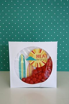 Love this idea of using a CD sleeve to package some sweets.