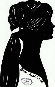 Silhouette paper cut art by Raka Milićević