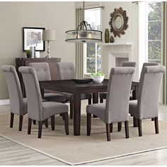 The Essex 9 Piece Dining Set was designed to enhance any dining room or breakfast nook settings. With touches of classic and contemporary styles, this Essex Dining Set is timeless.