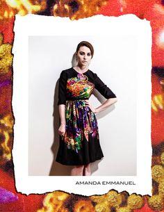 Amanda Emmanuel - Autumn/Winter 2012    BASANITE - Full-Skirted Silk Dress    http://www.amandaemmanuel.com/collections/shop/products/basanite    Exclusively available at Ursula B www.ursulab.com
