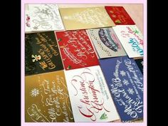Christmas Calligraphy Envelopes