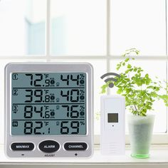 Ambient Weather WS-10 Wireless Indoor/Outdoor 8-Channel Thermo-Hygrometer LCD Temperature Thermometer CA1T