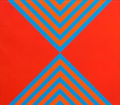 socialclaustrophobia:  Mervyn Williams (New Zealand, b. 1940), Polarities #2, 1972. Acrylic on canvas, 66 × 76.5 cm. more