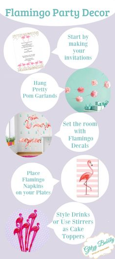 Flamingo Party Decor, Ideas to plan your flamingo styled party and more   Glitzy Bubbly Party Ideas Blog