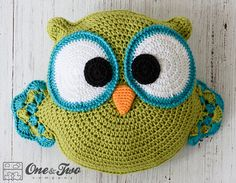Ollie the Owl Pillow PDF Crochet Pattern Instant Download