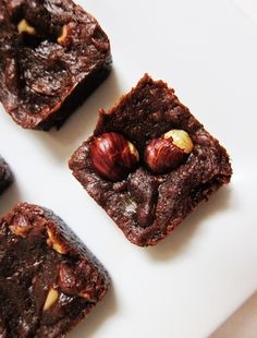 Mini Vegan Hazelnut Dark Chocolate Brownies