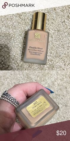 Estee Lauder double wear foundation 3N1 Used quiet a bit! Only has 30-40% left! I tend to switch out my foundations too often 😅 Estee Lauder Makeup Foundation
