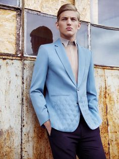 Sebastian Sauvé lensed by Lukasz Pukowiec and outfitted by Kamila Picz for Fashion magazine.