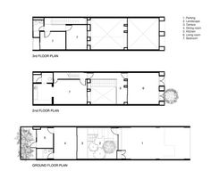 Townhouses with Private Courtyards,Floor Plans