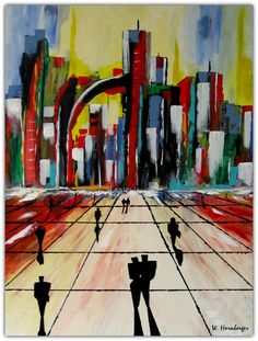 Acryl/Leinwand 60 cm x 80 cm x 3,5 cm Preis 440,- Euro  City Portal