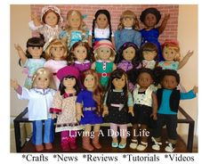 "Living A Doll's Life--This is a great site with free patterns and even a description and measurements for AG and other 18"" dolls. Too cool!!"
