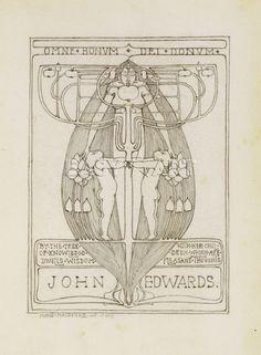 Design for a Bookplate, 1896, Margaret Macdonald Mackintosh