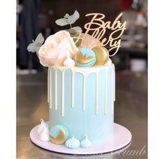 Baby shower boy cake buttercream gender reveal Ideas for 2019 Torta Baby Shower, Baby Shower Drip Cake, Baby Shower Cakes For Boys, Baby Boy Cakes, Baby Boy Shower, Babyshower Cake Boy, Blue Drip Cake, Caramel Mud Cake, Christening Cake Boy