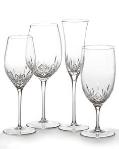 Lismore Essence Stemware by Waterford Crystal at Horchow.