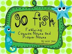 Go Fish Game with common nouns and proper nouns
