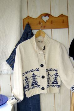 Women's cardigan with folkloric motif - maddy laine Knitting Patterns