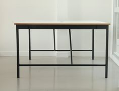 Oberthur desk series by Jakob Hartel. Steel , oak and Formica
