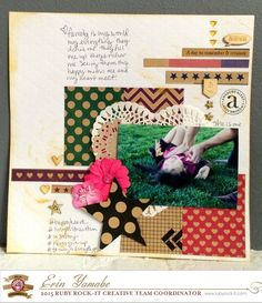 Krafty Goodness layout with Fundamentals wood veneers, stamps and our droplets!