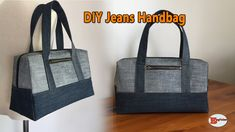 I really like Jeans ! And much more I like to sew my very own Jeans. Next Jeans Sew Along I'm likely to reveal Diy Bags From Old Jeans, Old Jeans Recycle, Bag Sewing, Sewing Clothes, Bags Travel, Diy Bags Purses, Handbag Patterns, Diy Handbag, Tote Handbags