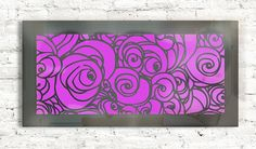 laser cut metal wall panel with led lighting, decor #WallDecor #metalart #metalartraggio www.raggio.eu