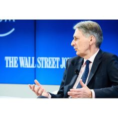 "Philip Hammond, Chancellor of the Exchequer of the United Kingdom speaking during the Session ""Britain and the EU: The Way Forward"" at the Annual Meeting 2017 of the World Economic Forum in Davos, January 20, 2017. .Copyright by World Economic Forum / Manuel Lopez #davos #wef #am17 #am #worldeconomicforum"
