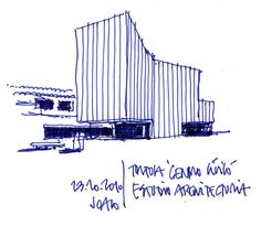 DIBUJOS DE ARQUITECTO - Arch. Joaquín Oleastro Serra Sketches Architecture Concept Drawings, Architecture Design, Architectural Drawings, Single Line Drawing, Thought Process, Drawing Sketches, How To Draw Hands, Presentation, Villas