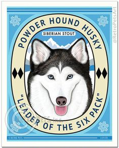 Husky siberiano polvo perro Husky líder de por RetroPetsGallery