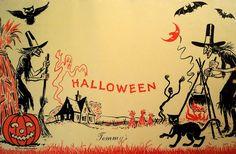 Vintage Halloween illustration