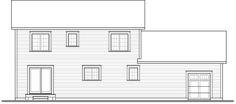 Craftsman House Plan 76323 Rear Elevation