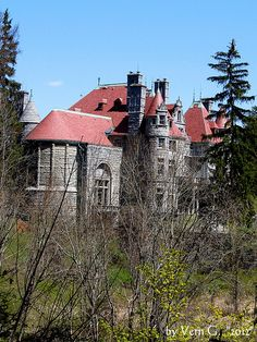 Searles Castle in Great Barrington, MA. It was commissioned in 1888 by Mary Hopkins, widow of railroad millionaire Mark Hopkins. She married Edward Francis Searles, who had designed the interior, while the castle was being built. Hopkins died in 1891, but Searles maintained the castle until his death in 1920