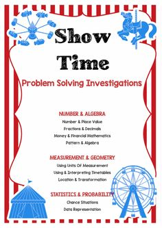 Home :: Subjects :: Mathematics :: It's Show Time! Problem Solving Investigation - Maths - Carnival - Royal Show - Show Bags