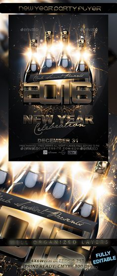 NYE Flyer Template Flyer template, Nye and Event flyers - new year brochure template