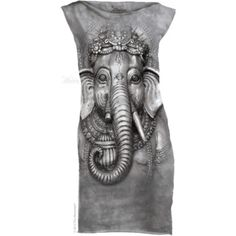 The Mountain Big Face Ganesh Mint Dress World Famous Artists, Big Face, Mint Dress, Color Depth, Mini Shirt Dress, Create Photo, Animal Faces, T Shirts For Women, Clothes For Women