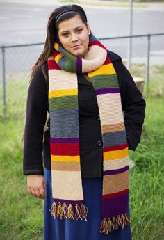 Made to order knitted 8 foot long 4th Doctor Inspired Tom Baker Scarf