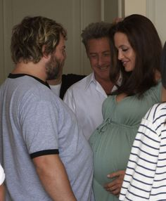 Angelina Jolie (pregnant with twins) Jack Black and Dustin Hoffman ~ 2008