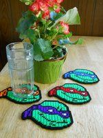 plastic canvas patterns and cartoon characters | deviantART: More Like Set of 4 Plastic canvas Jack O Lantern coasters ...